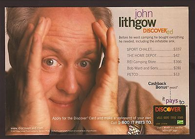 John Lithgow  1997 Discover Card Advertisement