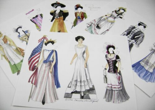 VTG PAPER DOLLS 2002 MIRIAM in FANCY DRESS by SANDRA VANDERPOOL RARE SET!!!