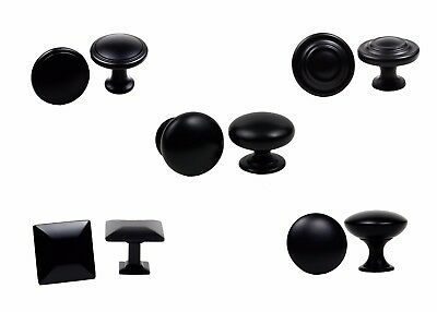 (Knobs Collection Kitchen Bathroom Drawer Cabinet Hardware in Matte Black by KPT)
