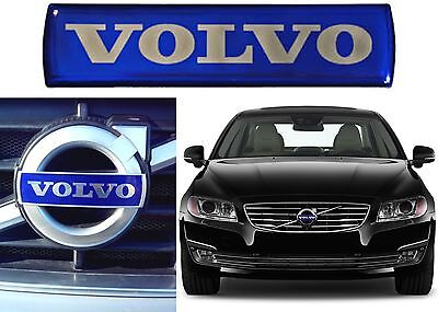 OEM 31214625 Volvo Small Grille Badge Emblem Nameplate Blue 115mm x 28mm New USA
