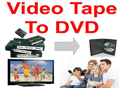 TRANSFER TAPES TO DVD  * VHS, VHS-C MiniDV, Hi8 * Convert Copy Videos