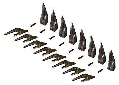 8 Mini Excavator Bucket Teeth Weld-on Shanks Pins - X156tl T230x156 P156