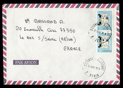 DR WHO 1998 BENIN COTONOU AIRMAIL TO FRANCE  g16548