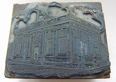 Vintage Printing Letterpress Printers Block Marine National Bank Building