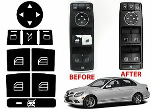 Window Switch Button Repair Stickers For 2008-2014 Mercedes Benz W204 C300 C350