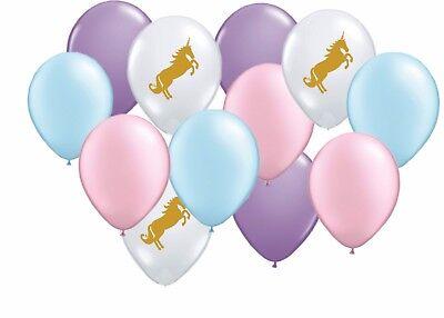 Unicorn Balloon Decoration Bargain Balloon 12 Pack Pastels Balloon Fiesta
