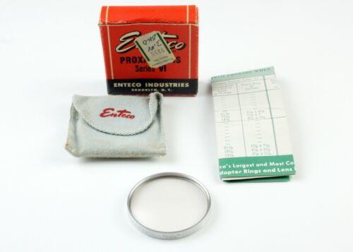 U201834 Vintage Enteco Series VI  Proxar +4 Diopter Close-Up Lens Filter