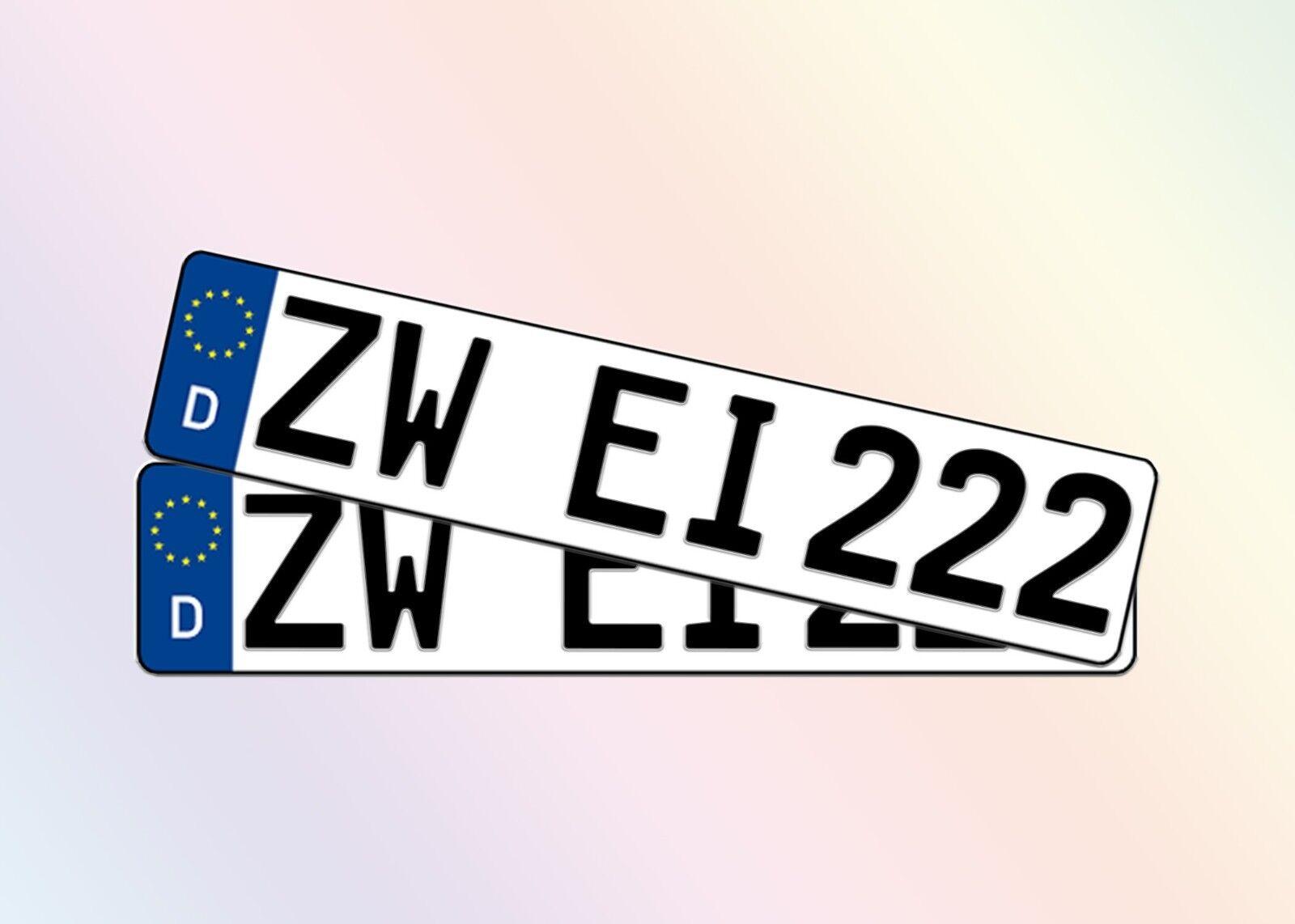 2 Nummernschilder | 52cm x 11cm l 1 Paar | Autokennzeichen | DIN | Versand Heute
