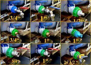Ibc 1000l tank cap with adapter tap valve storage tank cap 2 or 60 mm ebay - Bouchon cuve 1000l ...