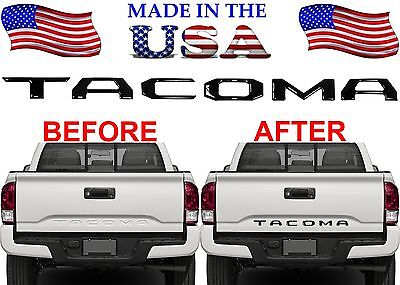 Gloss Black ABS Plastic Tailgate Letter Inserts For 2016-2017 Toyota Tacoma New