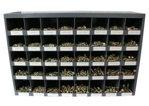 3,765 piece Grade 8 Coarse Thread Nut Bolt & Washer Assortment with Metal Bin