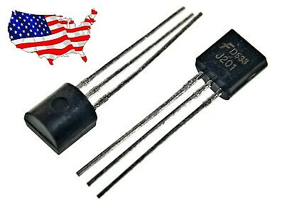 J201 - 10 Pcs Jfet N-channel 50 Ma 40v To-92 Transistord533 - From Usa
