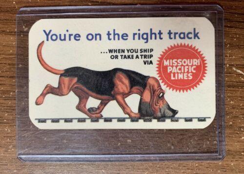 Vintage 1955 Missouri Pacific Lines Pocket Calendar