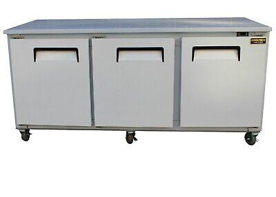 Cooltech 3-door Worktop Refrigerator Low Boy Cooler 72