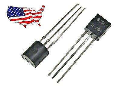 Bc547b 10 Pcs Npn To-92 Transistor - From Usa
