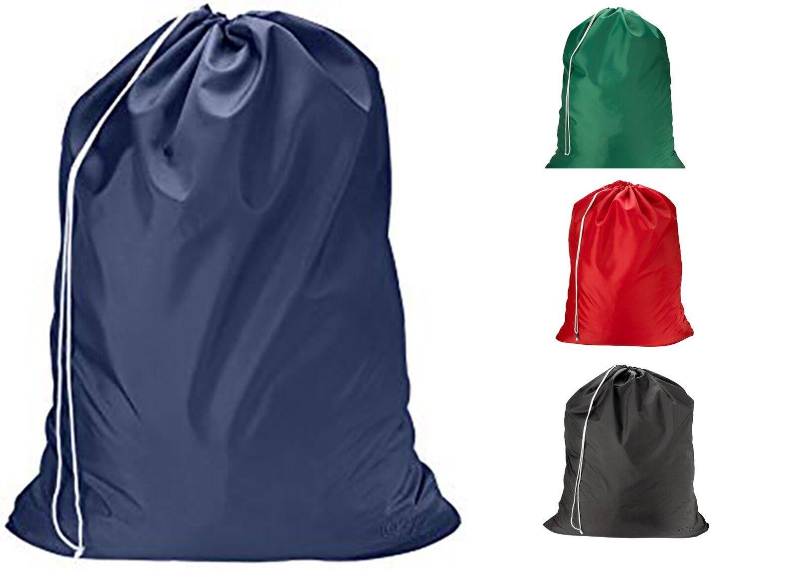 Heavy Duty Extra Large Nylon Laundry Bag Locking Drawstring