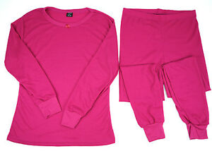 Women-039-s-Cotton-Thermal-Light-Wt-Waffle-Knit-Long-John-Underwear-Set-Sm-2XL