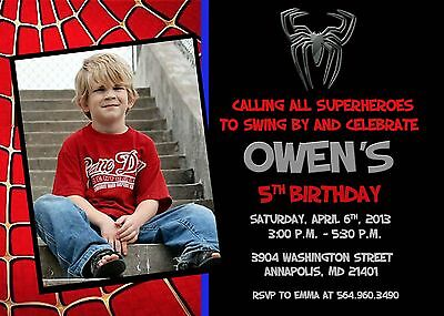 Spiderman, Superhero, Birthday Party Invitation](Superhero Party Invitations)