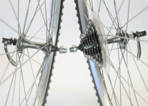 "VINTAGE SUNTOUR XCD ARAYA RX-7 26"" X 1.50 BICYCLE 7 SPEED WHEELS 130 MM"