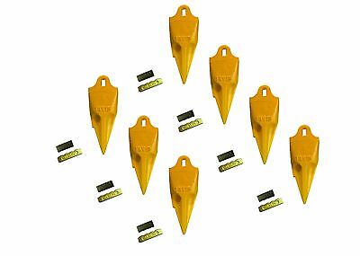 7 - Esco Style 18 Series Mini Excavator Backhoe Bucket Rock Teeth W Pin Kits