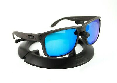 OAKLEY HOLBROOK WOODGRAIN FRAME / REVANT ICE BLUE POLARIZED CUSTOM (Holbrook Blue)
