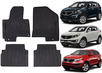 Genuine OEM Front  Rear All Weather Floor Mats For 2011 2016 Kia Sportage New