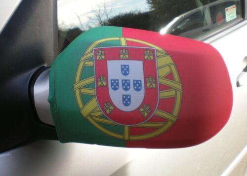 CAR WING MIRROR SOCKS FLAGS, COVERS, FLAG-UPS! - PORTUGAL PORTUGUESE
