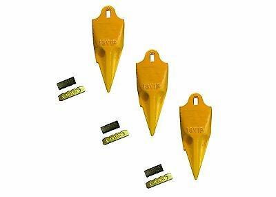 3 - Esco Style 18 Series Mini Excavator Backhoe Bucket Rock Teeth W Pin Kits