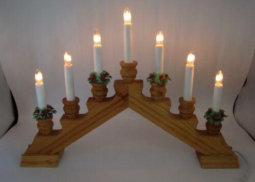 gnosjo konstsmide Sweden 1997 wood wooden candle candelabra Christmas lights