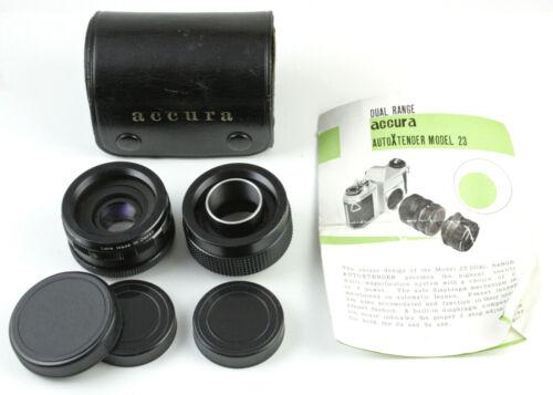 U199006 Accura Dual-Range Tele-Extender Set w/Case & Instructions M42 Screwmount