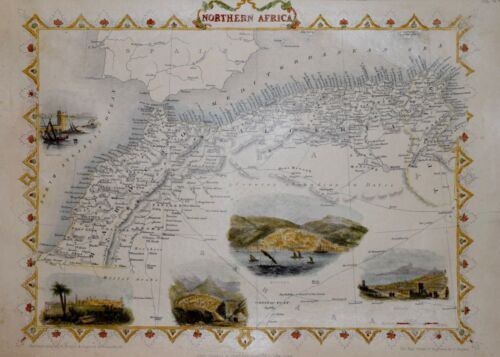 NORTHERN AFRICA BY JOHN TALLIS CIRCA 1850.