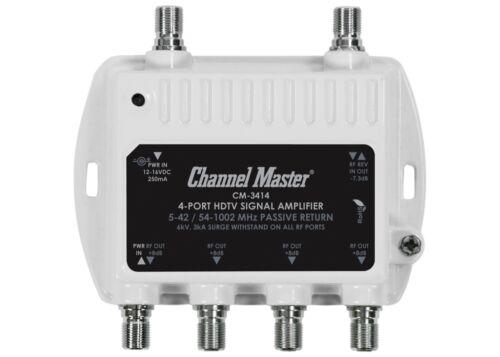 Channel Master 4 Port Distribution Amplifier HDTV Antenna Signal Booster CM-3414