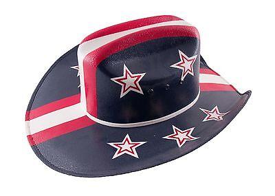 HAND PAINTED AMERICANA COWBOY HAT USA FLAG INDEPENDENCE DAY ORIGINAL PHARRELL