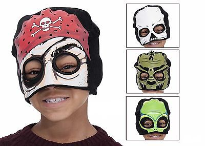 NOVELTY FACE MASK BEANIE HATS WITH EYE HOLES IDEAL HALLOWEEN OR EVERYDAY - Face Hole Halloween