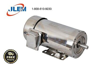 2 Hp 1800 Rpm 3 Phase Stainless Steel Electric Motor 145tc Free Shipping