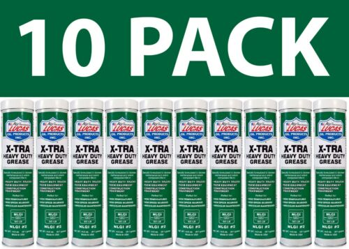 10 Pack Lucas Oil 10301 X-Tra Heavy Duty Grease - 14.5 oz New Free Shipping USA