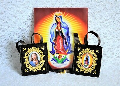 Impossible Situations St. Jude, Our Lady of Guadalupe Large Brown Wool Scapular