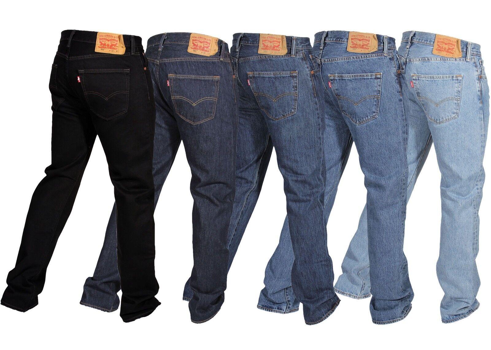 fa2d350340e купить levis jeans button denim, с доставкой Levis Mens 501 Original Fit  Jeans Straight Leg