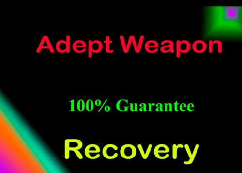 Adept Weapons Guarantee GrandMaster Recovery Completion PS5/PS4 or Cross Save Xb