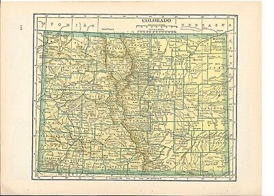 1942 Vintage COLORADO Map ready to frame for art
