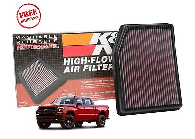 33-5083 K&N Replacement Air Filter 2019+ Chevy Silverado GMC Sierra 5.3 6.2 V8