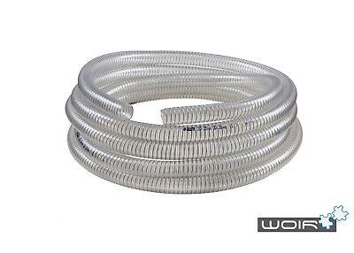 7-15m Saugschlauch 29/25 Transparent  Druckschlauch Spiralschlauch PVC 1Zoll