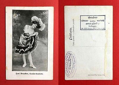 AK CHEMNITZ um 1910 Leni Drascher Kostüm Soubrette - Soubrette Kostüm