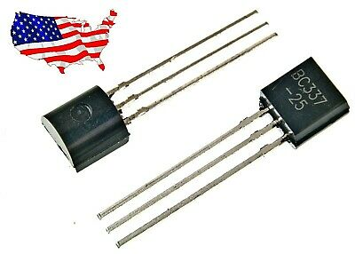 Bc337 10 Pcs 45v 0.5a To-92 Npn Transistor 25 - From Usa