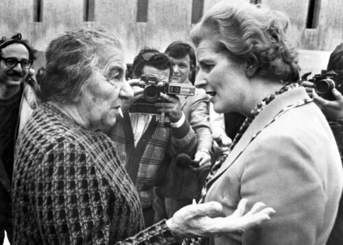 Golda Meir and Margaret Thatcher, Two Iron Ladies - April 1976, Tel Aviv- PHOTO