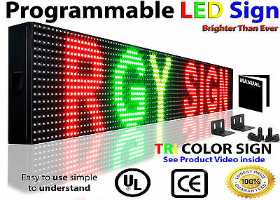 Outdoor 6 X50 Red Yellow Green 3 Color Scrolling Text Neon Open Logo Led Signs