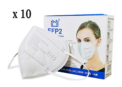 10 Stück FFP2 Maske Mundschutz Atemschutzmaske Masken 5-lagig Deutscher Händler