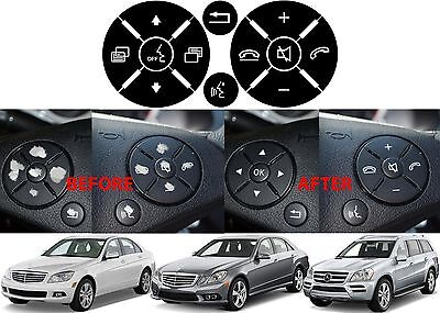 Replacement Steering Wheel Button Stickers For Mercedes C Class E Class G Class - Cheap Custom Stickers