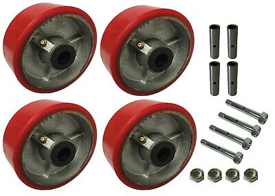 4 Heavy Duty Caster Wheels Set 4 5 6 8 10 Polyurethane On Cast Iron Wheel