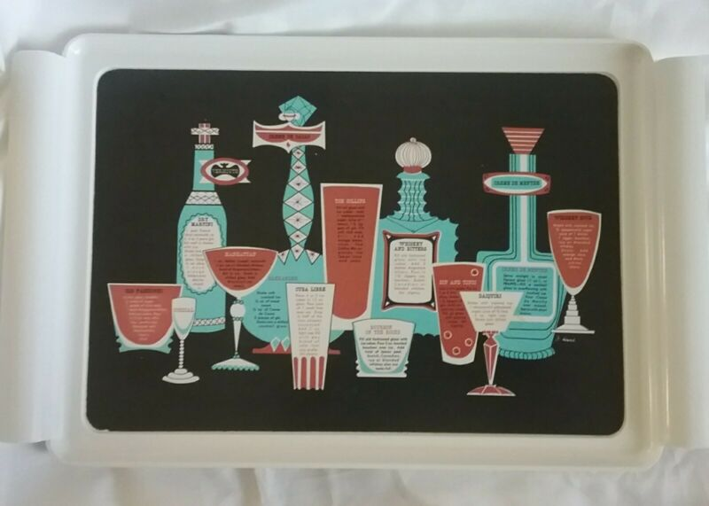 Waverly Mid Century Modern Drink Recipe Tray